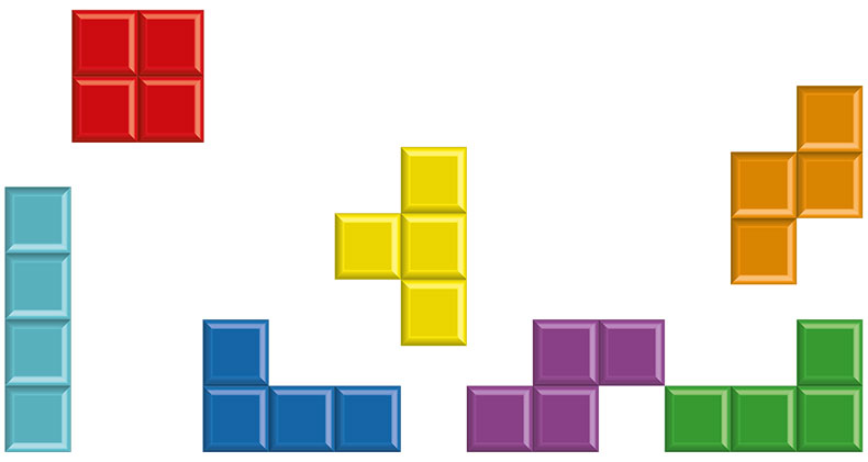 Lähetä kuva 3 Arcade tyylin peliä tetris - 3 Arcade-tyylin peliä
